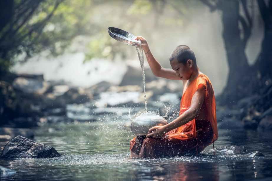 asia bald blur buddhism